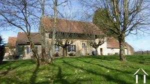 Charakteristisches Bauernhaus mit grosser Scheune
