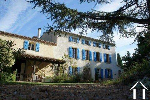 Groot Maison de Maitre met 9 slaapkamers (472m2) met zwembad, grote tuinen (13608m2) en een prachtig uitzicht over het landschap Ref # MPOP0020